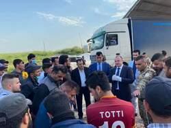 نينوى تدخل العشرات من القادمين من كوردستان وتتسلم مواد طبية
