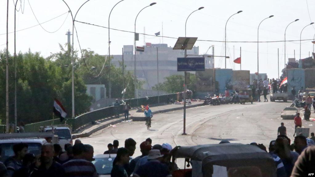 Video... Fifth bridge closed in Baghdad