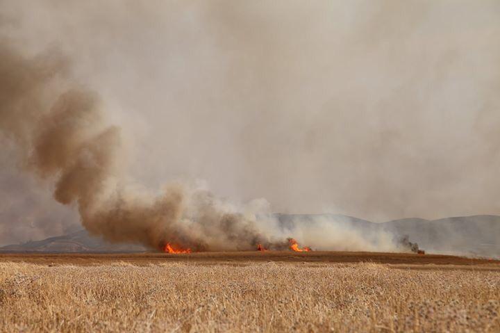 اخماد حريق كبير بخمس مناطق في خانقين