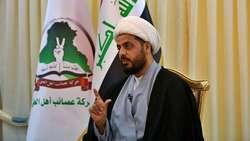 """الخزعلي يطالب بغداد واربيل بموقف """"متناسب"""" ازاء الانزال التركي بكوردستان"""
