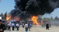 مصرع ثلاثة عمال واصابة اخرين باندلاع حريق في مصفاة نفطية في اربيل