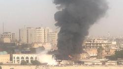 حريق هائل في شارع الرشيد وسط بغداد