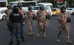The authorities announce an officer and a security officer injured in a bomb attack in Baghdad