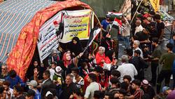 اصابات نتيجة انفجار بخيمة اعتصام في الناصرية