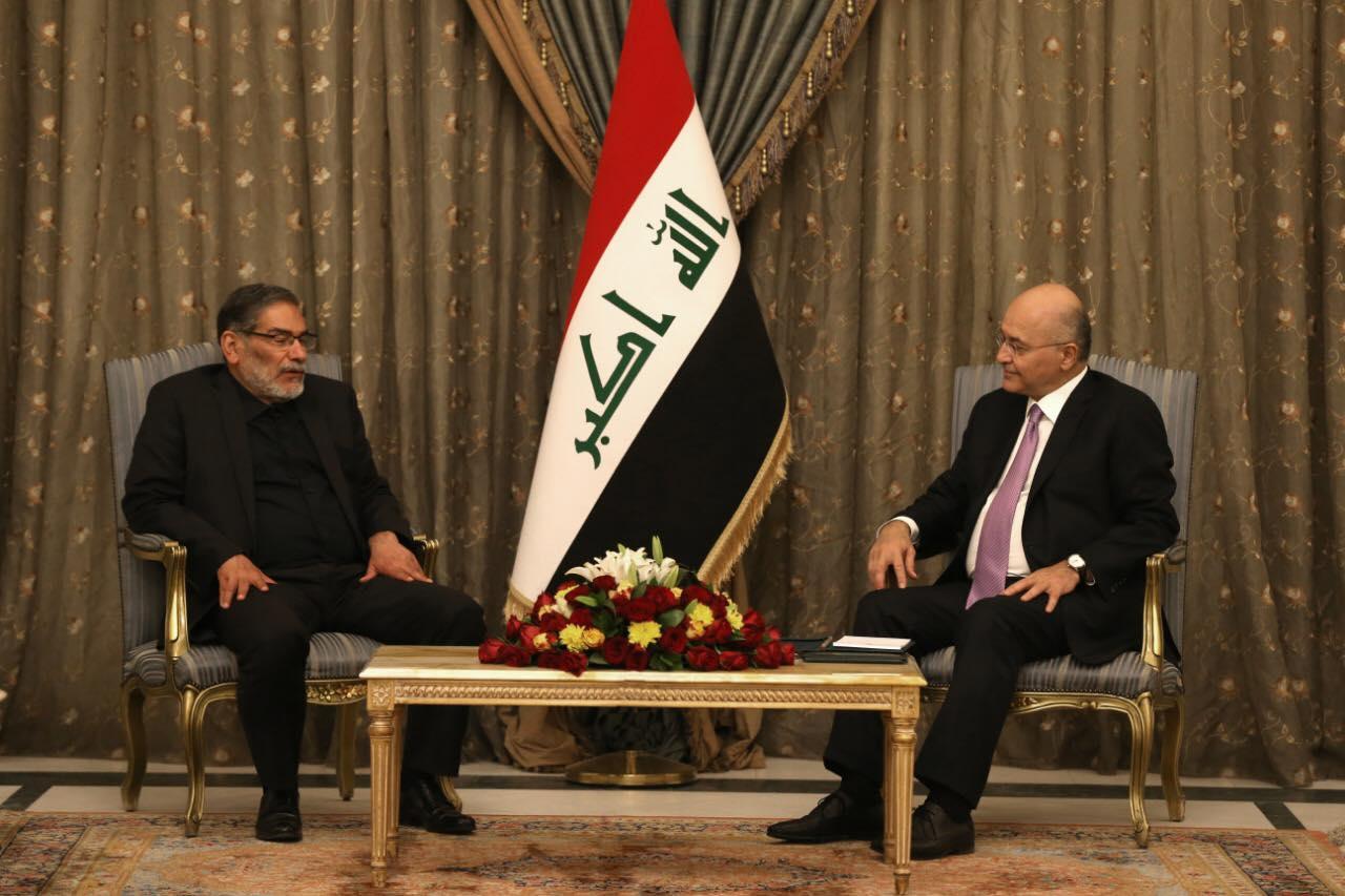 صالح يبلغ شمخاني ضرورة دعم سيادة العراق