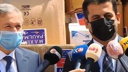 اقليم كوردستان يتلقى من تركيا شحنة من المساعدات الطبية لمكافحة كورونا
