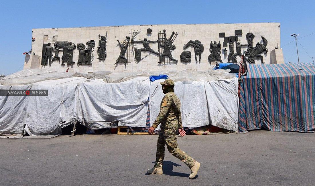 ما الذي حل بساحة التحرير بزمن الجائحة؟ جولة مصورة لشفق نيوز بمركز احتجاجات العراق