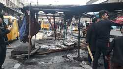 Images ..Riot police burn protestor's tents at Tahrir square in Baghdad
