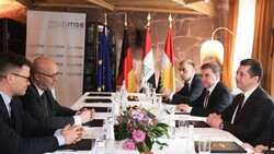 Barzani discusses sources' diversification of the economy and opening investment gates with German delegation