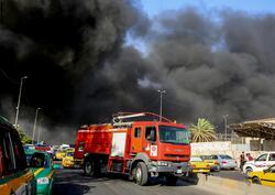اندلاع حريق في مقر وزارة عراقية وسط بغداد