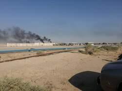 محتجون يقطعون طريقا الى حقل نفطي جنوبي العراق