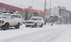 كثافة الثلوج تقطع طرقا في اقليم كوردستان