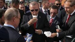 """شاهد.. بوتن وأردوغان يتناولان """"آيس كريم"""""""