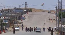 صور .. اندلاع حريق في مخيم للنازحين في دهوك