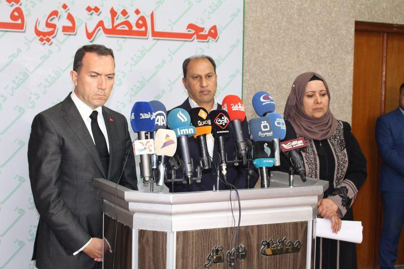 هل استقال رئيس حكومة ذي قار جنوب العراق من منصبه؟