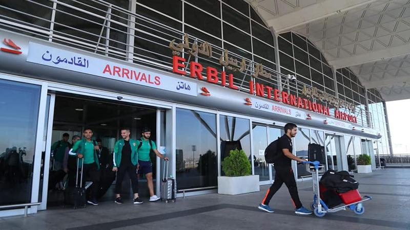 وفد المولودية الجزائري يصل أربيل استعداداً للقاء القوة الجوية