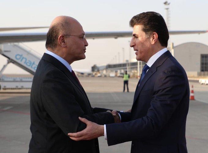 رئيس الجمهورية يصل عاصمة اقليم كوردستان