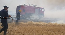 اندلاع حريق داخل مطار المثنى في بغداد و12 فرقة اطفاء تتوجه لمكافحته