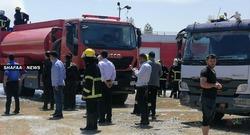 صور .. إخماد حريق هائل بمستودع للوقود في اربيل وهذه هي الخسائر