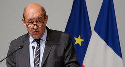 وصول وزير الخارجية الفرنسية الى بغداد