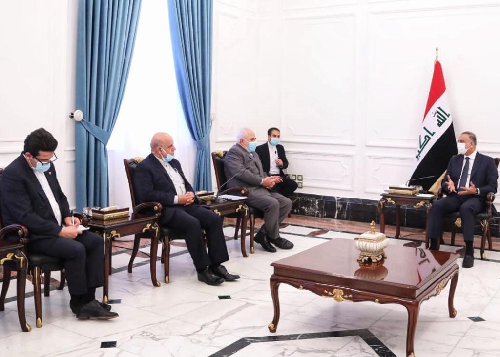 مصدر حكومي: الكاظمي وظريف ناقشا الوساطة العراقية بين السعودية وإيران
