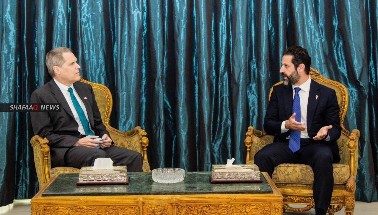 طالباني يبحث مع السفير الامريكي الحوارات بشأن حصة الاقليم من الموازنة وقصف اربيل