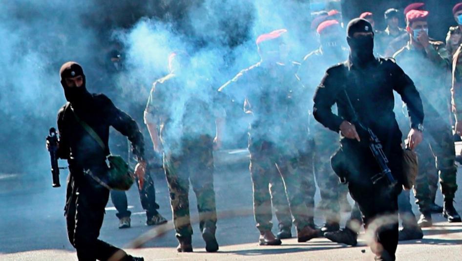 """السلطات بمحافظة عراقية تتوعد بضرب متظاهري """"الخوذ والقنابل والدروع"""""""