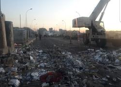 صور .. عمليات بغداد تفتح جسر السنك وسط العاصمة بعد طرد المحتجين