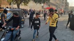 """عمليات بغداد تكشف تفاصيل صِدام مع متظاهرين وتلومهم على """"مخالفة حقوق الانسان"""""""