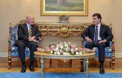 كوردستان وبريطانيا تبحثان تعزيز العلاقات واعادة اعمار المناطق المحررة من داعش