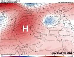 اندفاع منخفض السودان الحراري يشكل ضغطا يتسبب بأمطار في العراق